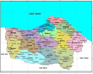 Peta Administrasi Rembang