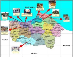 Peta Wisata Kabupaten Rembang