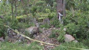 Police Line yang masih melingkari Situs Terjan